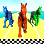 Horse Run Fun Race 3D Games MOD APK 1.8