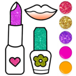 Beauty Drawing Pages Make Up Coloring Book Glitter MOD APK 2.0