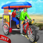 Bicycle Rickshaw Simulator 2019 : Taxi Game MOD APK 2.4