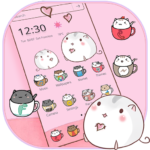 Cute Cup Cat Theme Kitty Wallpaper & icon pack MOD APK 1.1.4