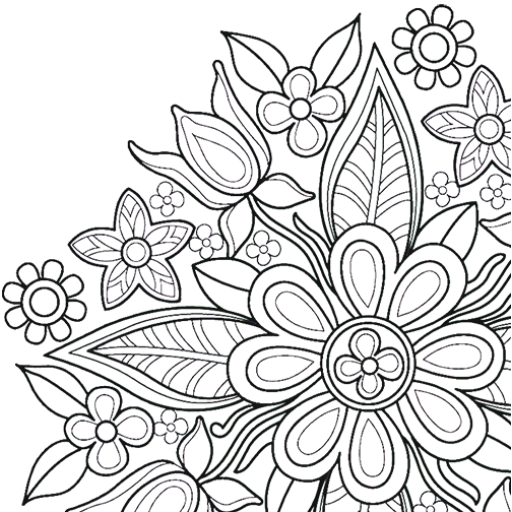 Flowers Mandala coloring book MOD APK 6.9.2
