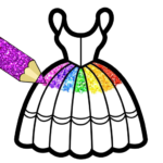 Glitter Dresses Coloring Book For Kids MOD APK 5.0