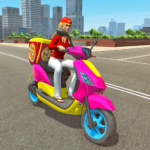 Moto Bike Pizza Delivery 2019 – Girl Food Game MOD APK 1.0