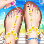 💅Princess Nail Makeup Salon2 – Beautiful Toenail MOD APK 2.2.5000