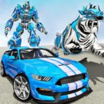 US Police Transform Robot Car White Tiger Game MOD APK 1.5