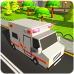 Blocky US Fire Truck & Army Ambulance Rescue Game MOD APK 1.0.3