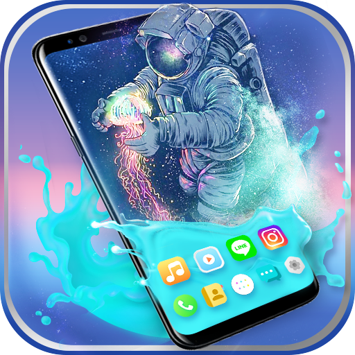Gravity Water Astronaut Themes HD Wallpapers icons MOD APK 1.0