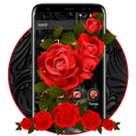 Luxury Black Red Rose Theme MOD APK 1.1.6