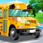 School Bus Car Wash MOD APK 2.2.643