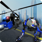Air Force Transform Robot Cop Wolf Helicopter Game MOD APK 1.3.1
