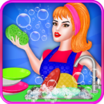 Dish Washing Games For Girls: Home Kitchen Cleanup MOD APK 1.0.4