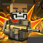 Blocky shooting war game: combat cubic arena MOD APK 1.12