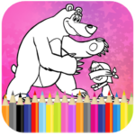 Coloring Book For Kids : Little Girl and Bear MOD APK 1.14