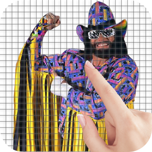 '90s Wrestlers Color by Number – Pixel Art Game MOD APK