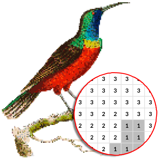 Bird Color By Number – Pixel Art MOD APK