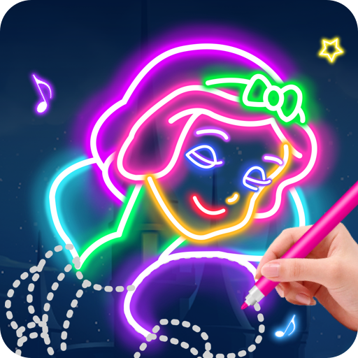 Learn To Draw Glow Princess MOD APK