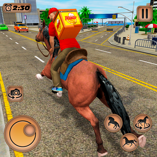 Mounted Horse Riding Pizza Guy: Food Delivery Game MOD APK