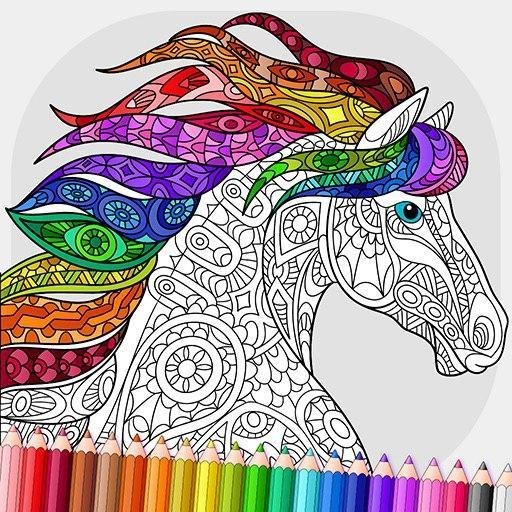 Relaxing Adult Coloring Book MOD APK