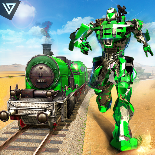 US Army Transforming Robot Train Shooter 2020 MOD APK
