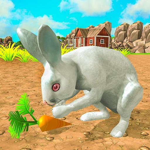 wild pet rabbit animal sims -forest predator craft MOD APK