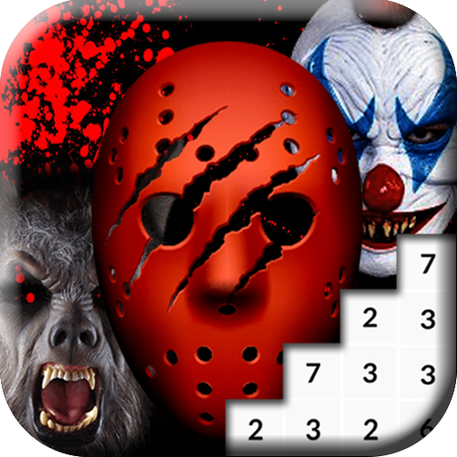 Coloring Scary Masks Pixel Art Game MOD APK