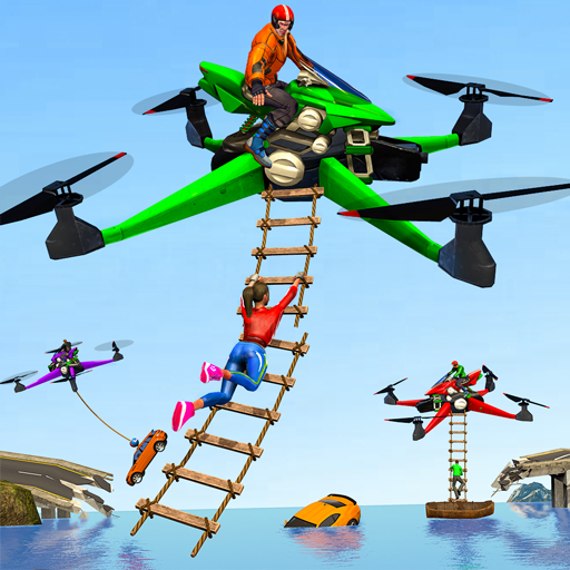Drone Rescue Simulator: Flying Bike Transport Game MOD APK