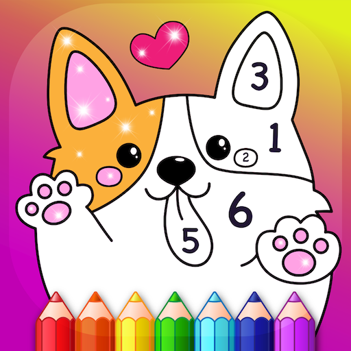 Kids Color by Numbers Book with Animated Effects MOD APK