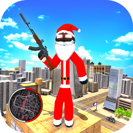 Santa Claus Rope Hero Stickman Gangster Crime MOD APK