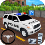 Police Car Spooky Stunt Parking: Extreme driving MOD APK 1.1