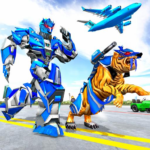 US Police Tiger Robot Game: Police Plane Transport MOD APK 1.1.3