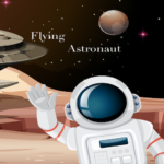 Flying Astronaut Game: Jump in Space and Collect MOD APK 4.2