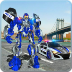 US Police Car Real Robot Transform: Robot Car Game MOD APK 163