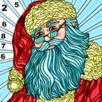 Coloring Book Christmas Color By Number Paint Game MOD APK 1.1