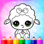 Flower Magic Color-kids coloring book with animals MOD APK 3.8