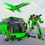 Army Bus Robot Transform Wars – Air jet robot game MOD APK 3.7