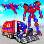 Flying Garbage Truck Robot Transform: Robot Games MOD APK 28