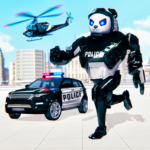 Police Panda Robot Car Transform: Flying Car Games MOD APK 2.0.9