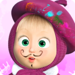 Masha and the Bear: Free Coloring Pages for Kids MOD APK 1.7.6