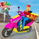 Moto Bike Pizza Delivery – Girl Food Game MOD APK