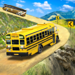 Offroad School Bus Driving: Flying Bus Games 2020 MOD APK 1.42