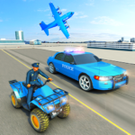 USA Police Car Transporter Games: Airplane Games MOD APK